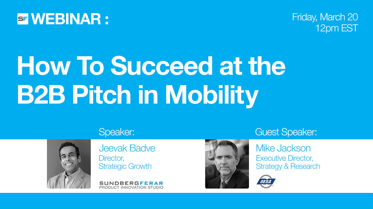Sundberg-Ferar Webinar: How To Succeed at the B2B Pitch in Mobility