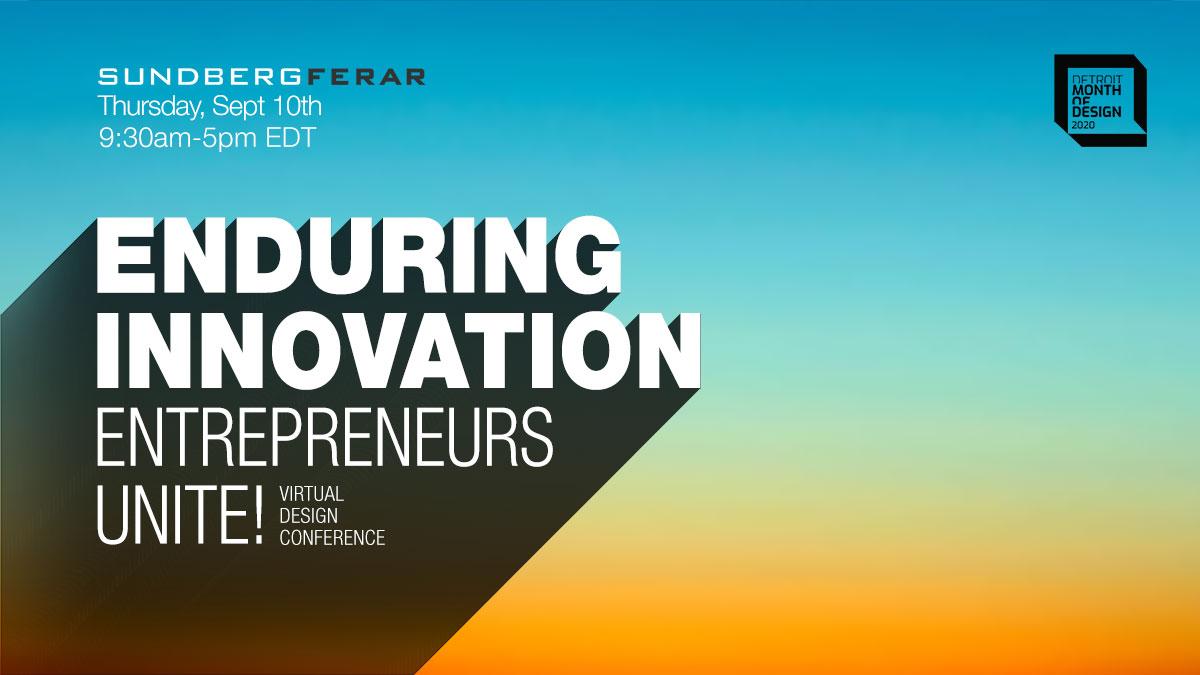 Enduring Innovation: Entrepreneurs Unite!